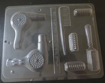 DRESS IT UP BUTTONS ~ A CUT ABOVE ~ HAIRDRYERS ~ BRUSH ~ TONGS ~ MIRROR ~ COMB