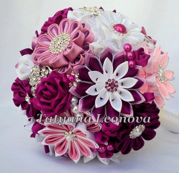 Hochzeitsstrauss Brosche Blumenstrauss Burgund Pink Rosa Etsy