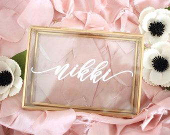 Custom Jewelry Box, Personalized Jewelry Box, Wedding Keepsake Box, Trinket box, Bridesmaid Gift, Glass Keepsake Box With Name, Popular Gift