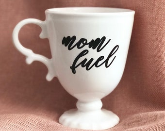 Mother's Day Mug / white Mug / Coffee Cup / Mother's Day Gift / Gift for Mom / Pink Coffee Cup / unique Mug / mom fuel Tired as a Mother