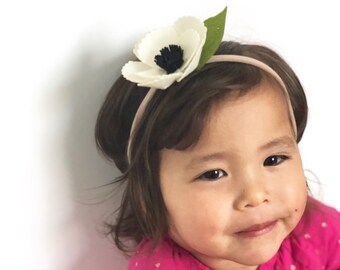 Felt flower headband / baby headband / felt flowers / flower crown / baby hair accessories / hair accessories / baby gift / floral headband