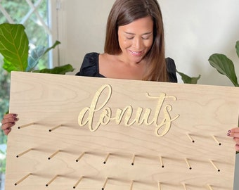 Donut sign, donut stand, donut wall, donut display, donut bar, wall for donuts - LOCAL PICKUP ONLY