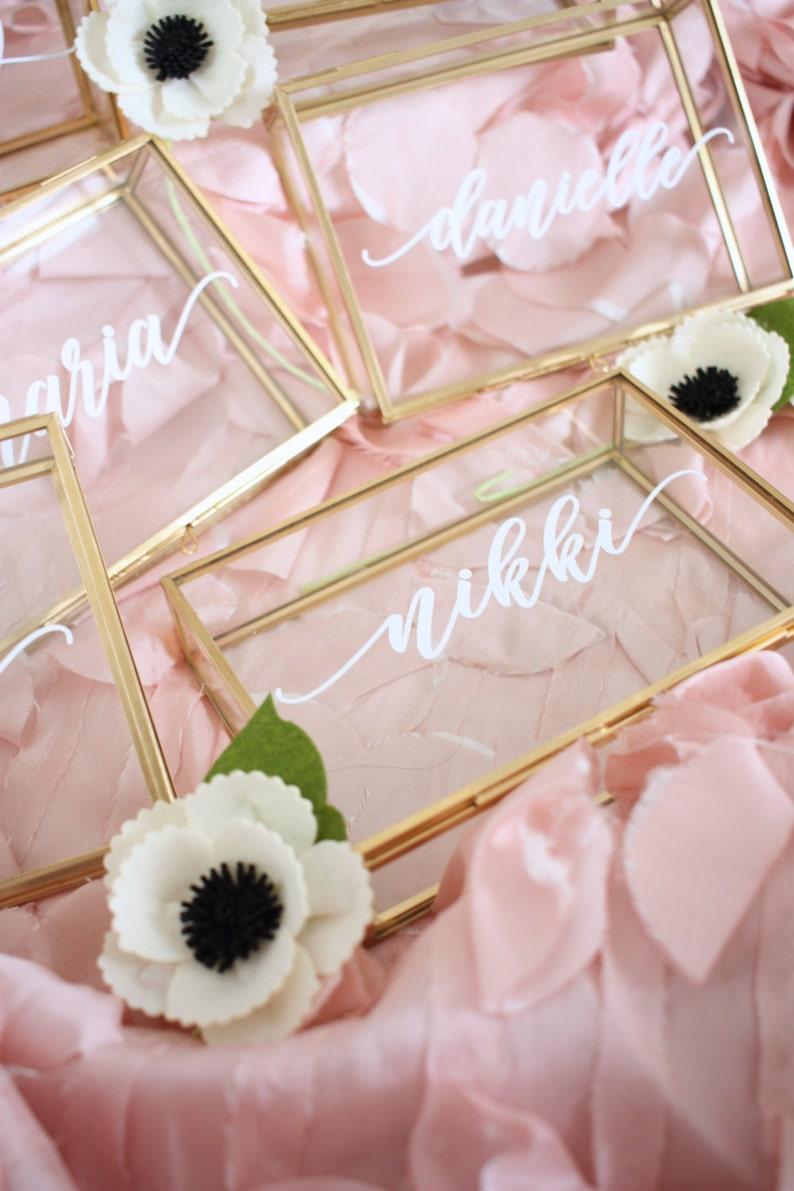 Glass Box / Personalized Jewelry Box / Bridesmaid Gift / image 0