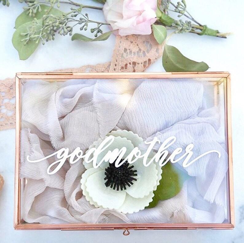 Bat Mitzvah Gift / Christening Gift / Godmother gift / gift Rose Gold