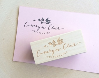 Your Logo Made into a Rubber Stamp / Custom Rubber Stamp / Business Logo / Logo / Logo Stamp / Personalized Rubber Stamp / Rubber Stamp