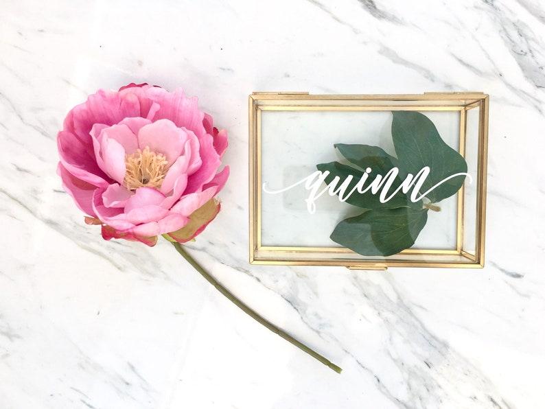 Newlywed Gift Bridal Party Gift Personalized Glass Box image 0