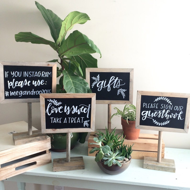 Photobooth Sign Instagram Sign Dessert Table Sign Salvaged Natural