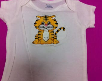 Embroidered Baby Tiger Onesie