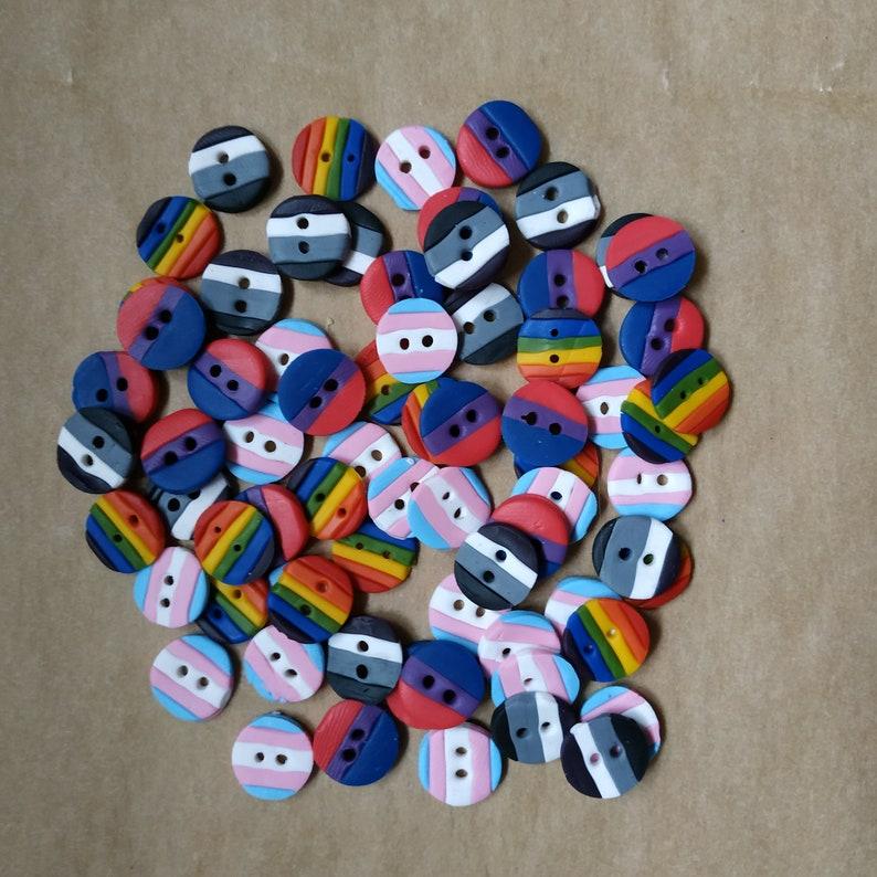 Small Decorative Pride Buttons