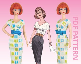 """Simple Sophisticate sewing pattern for 12"""" fashion dolls"""