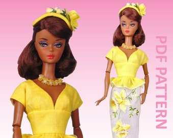 """Sunny Suit sewing pattern for 12"""" fashion dolls"""