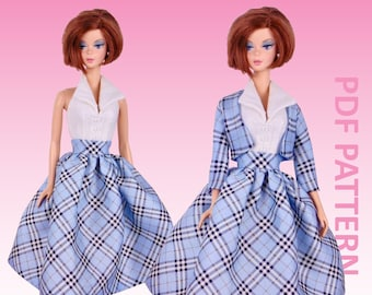 """50's Swing sewing pattern for 12"""" fashion dolls"""