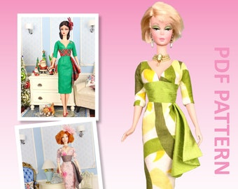 """Three Quarter Time sewing pattern for 12"""" fashion dolls"""