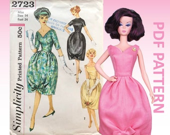 """Belle Bow sewing pattern for 12"""" fashion dolls"""