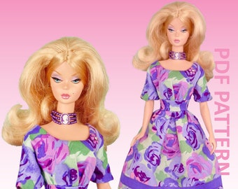 """Summer Picnic sewing pattern for 12"""" fashion dolls"""