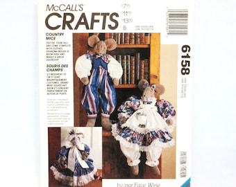 /& Mrs CLOWN Mr MOUSE Toy Stuffed Animal McCall/'s #2338 Fabric Pattern