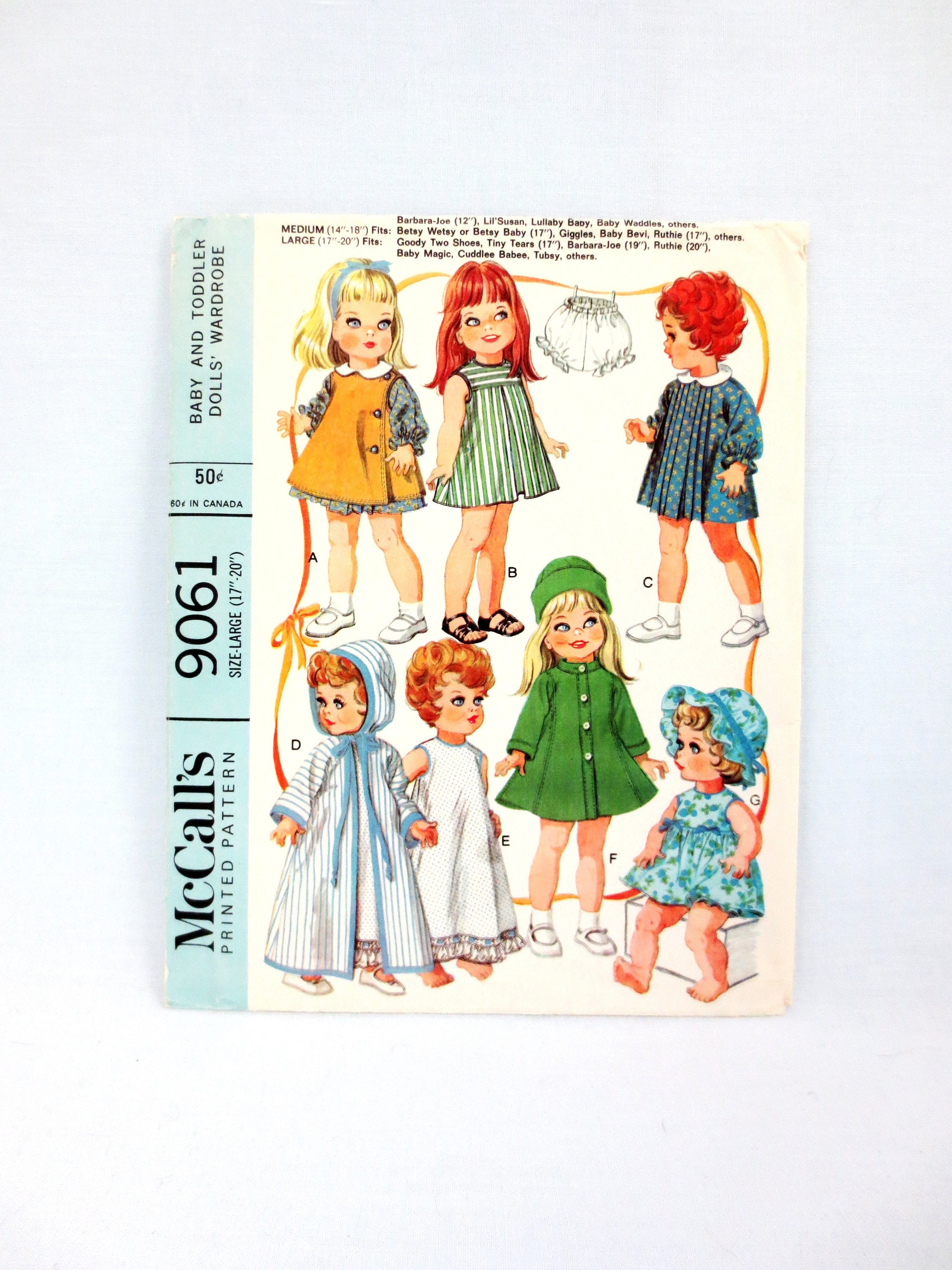 "Vtg Chatty Cathy 19/"" 20/"" 21/"" Toddler Doll Clothes Pattern ~ HUGE WARDROBE"