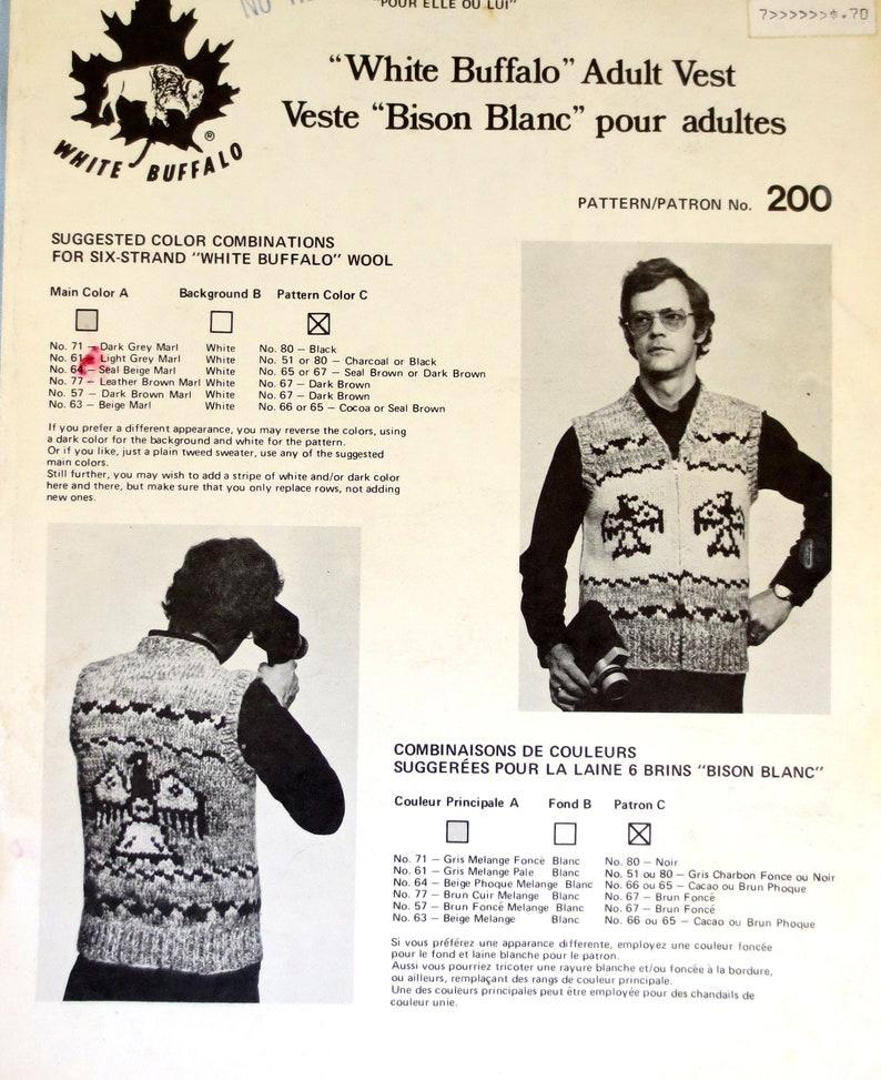 2453b514812 White Buffalo Wool Cowichan Style Adult His or