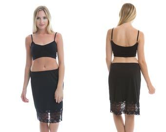 9f6f1dcf22644 Basic Black Lace Dress Extender Slip