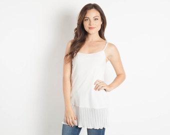 f4738bf2938 Ivory Chiffon Shirt Extender Camisole Bohemian Separates