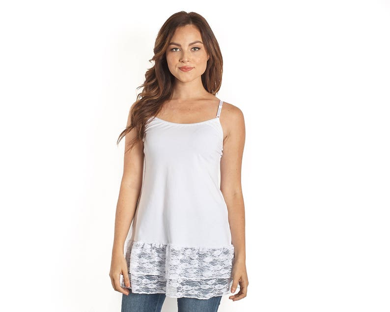 58bc696f59c White Lace Camisole Shirt Extender
