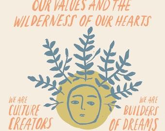 The Wild Call Manifesto Poster 11 x 17 wall art prints poster print word art print art poster motivational art inspirational art affirmation