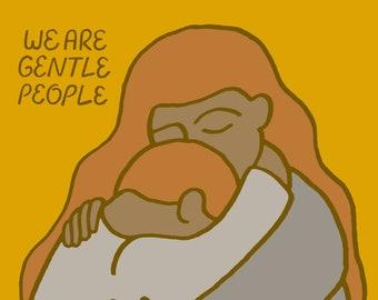 Gentle People - print of an original illustration, fine art print, archival prints, wall art