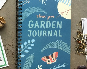 Garden Journal: Three Year Daily Planner Gardening Gift For Gardeners,  Garden Book Garden Art