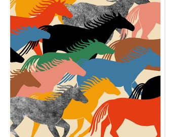 Collective Liberation Print- Wild Horses Wall Art Print Horse Gift Horse Art Horse Print Horses Gift Wild Horses Art Horses Print