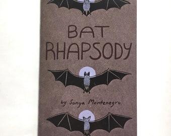 Bat Rhapsody: a booklet about bats // bat book, animal lover, bats halloween, bats for kids, animal books