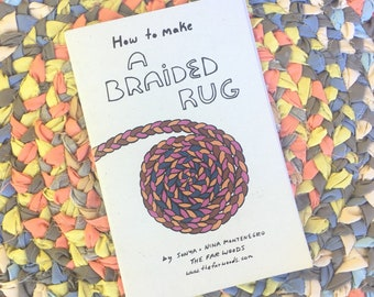 How to Make A Braided Rug Booklet - Sewing Project for Beginners, Craft Project, Braided Rug Pattern, DIY project, Kids Sewing Project