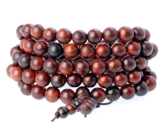 """8MM YELLOW BROWN ROSEWOOD PEARWOOD ROUND LOOSE BEADS 34/"""""""