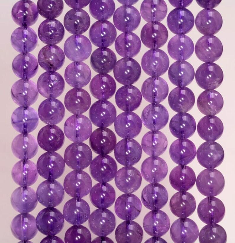 90186476-808 6mm Amethyst Gemstone Grade AA Purple Round 6mm Loose Beads 15.5 inch Full Strand
