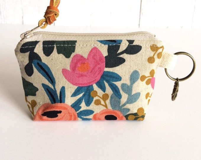 Coin Purse...Linen (more fabric options)