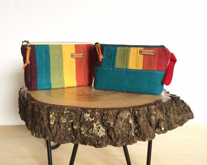 Rainbow Linen Clutch...Pin-Tucked Linen (2options)