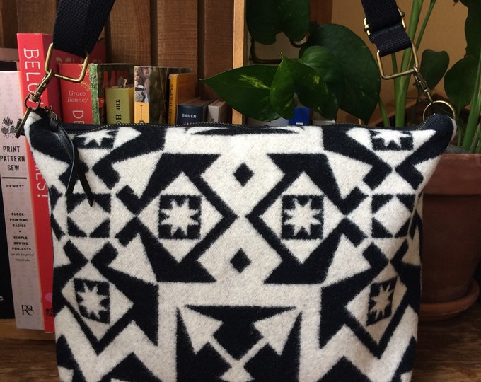 LIV*Ware Crossbody Bag featuring Waxed Canvas and Pendleton Wool