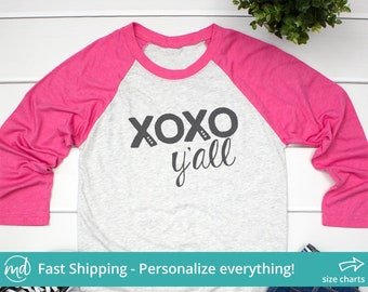 f3e5409ec2 Xoxo Yall Shirt, Xoxo Yall Tshirt, Xoxo Shirt Woman, Valentine Day Women  Shirts, Ladies Valentine Shirt, Womens Valentines Day Shirt VAL-028