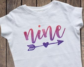 9th Birthday Shirt Girl 9 Girls Ninth Nine