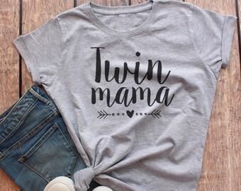 Twin Mom Shirt, Twin Mama Shirt, Mom of Twins Shirt, Gift for Mom of Twins