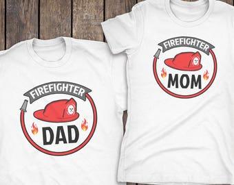 Firefighter Birthday Matching Family Shirts, Personalized Firefighter Shirt, Matching Coordinating Firefighter Tshirts, Firefighter Birthday
