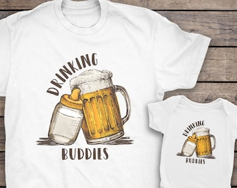 82c24ea2 Drinking Buddies Dad And Baby Matching Shirts, Drinking Buddies Shirt, Father  Son Shirts Drink, Beer Father's Day Gift, Father Son Shirts
