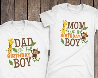 Jungle Family Shirts Birthday Theme Matching For Mom And Dad Wild About The