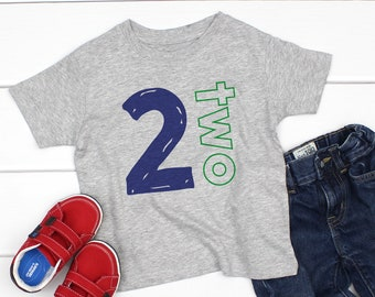 Personalized 2nd Birthday Shirt 2 Year Old Tshirt Im Two Years Tees