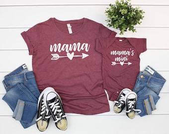0baac64625 Mama and Mini Shirt, Mama and Me Shirts, Mama and Mini Me, Mamas Mini Me  Shirt, Mom and Mini, Mom and Daughter Matching Outfits