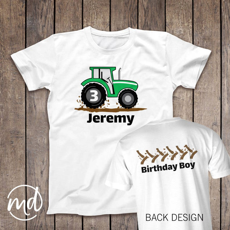 50ef7d639 Tractor Birthday Shirt Toddler Green Tractor Birthday | Etsy