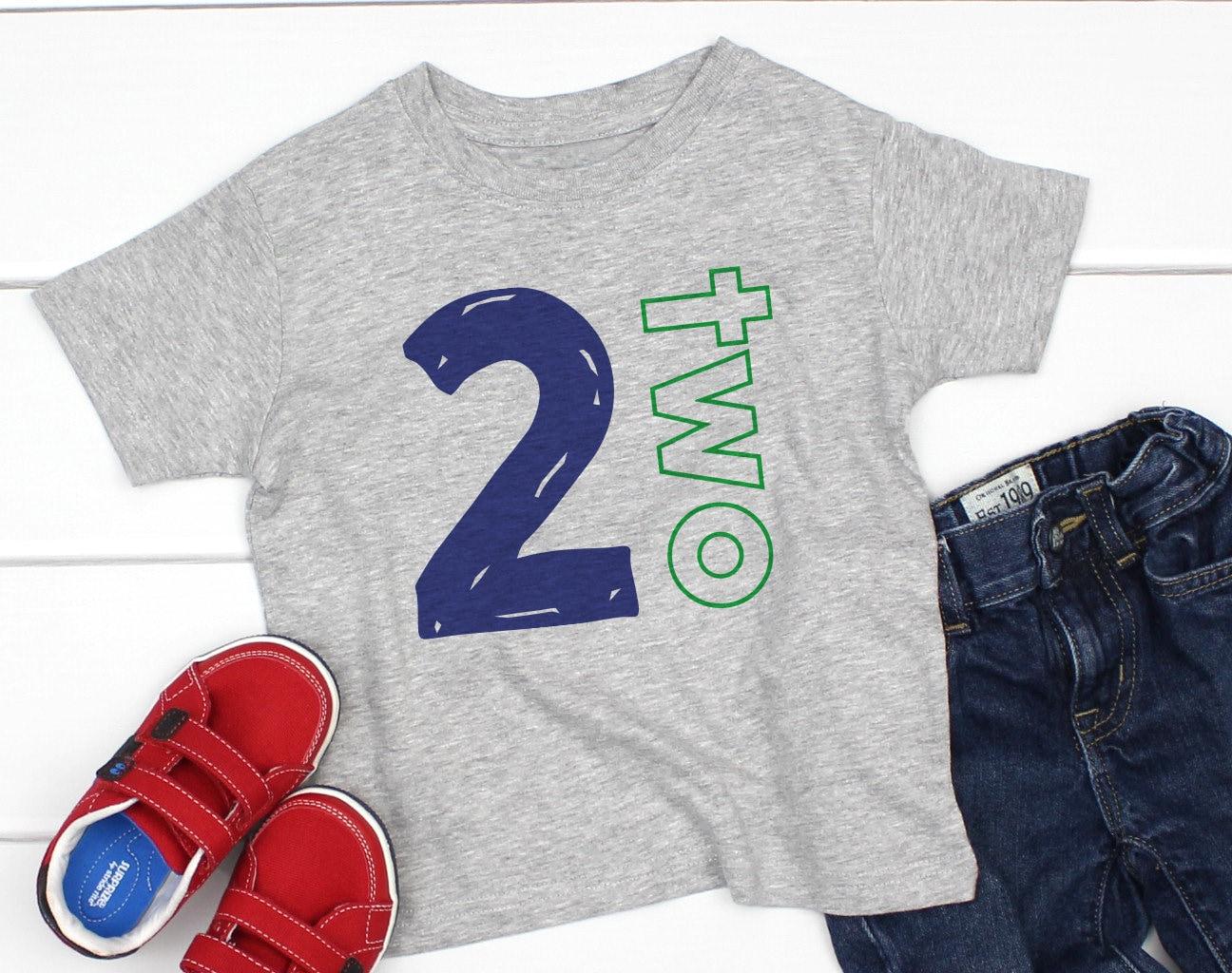 2 Year Old Boy Shirt Second Birthday 2nd Boys Shirts Im Two