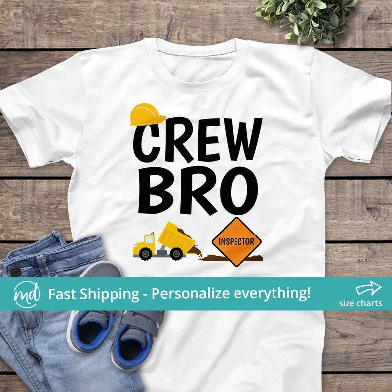 Crew Bro Matching Brother Construction Shirt Crew Brother image 0