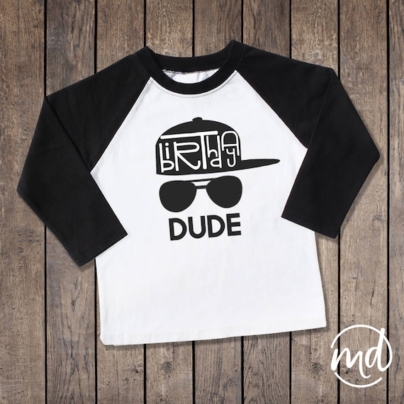 Birthday Dude Shirt Boy 1 2 3 4 5 6 7 8