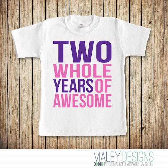 Girl Second Birthday Shirt Two Year Old