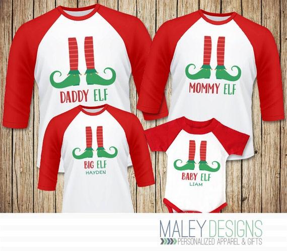 Family Elf Shirts Matching Family Christmas Pajamas Shirts | Etsy